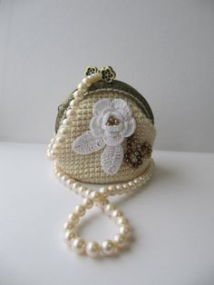 Coin Purse Crochet Bag small purses Accessories Gift by KrugerShop