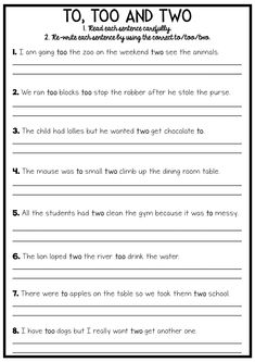 to two too homophones worksheet board pinterest worksheets language. Black Bedroom Furniture Sets. Home Design Ideas