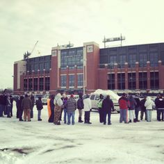 What happens when Lambeau Field needs help clearing the snow?  The volunteers show up!