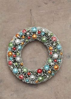 """Share and get a 10% off coupon code! Snow-Flocked Christmas Wreath - 12"""" Modern Holiday Decor"""