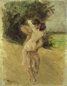 Max Liebermann - Love scene [1926]