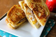 French Toast Breakfast Sandwich. The BEST breakfast sandwich you will EVER eat! | Mrs. Schwartz's Kitchen