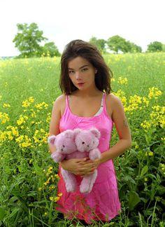 Bjork - pink dress with teddy bear in yellow flower field Anthony Kiedis, Lauryn Hill, Francis Bacon, Carl Jung, Freddie Mercury, Andy Warhol, David Bowie, Divas, Pretty People