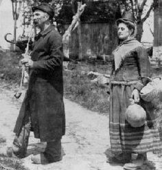 Germans in Wisconsin: Mr. And Mrs. Alexander Krueger, dressed for the photographer in Old Country apparel, Dodge County, 1902. (WHi K91 405)