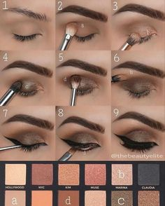 Step by step make-up tips that every girl should try out If you know how to use make-up, make-up can do magical things, completely change your face, or simply improve your options. MAKEUP FOR EYES Make Up Tutorial Contouring, Makeup Tutorial For Beginners, Smoky Eye Makeup, Eye Makeup Steps, Makeup 101, Beauty Makeup, Makeup By Mario Palette, Anastasia Beverly Hills, Maquillage Yeux Cut Crease