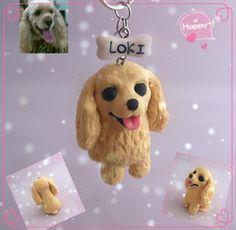Cheap Diy personalizada arcilla del polímero Cocker perro figurita 6 CM coche…