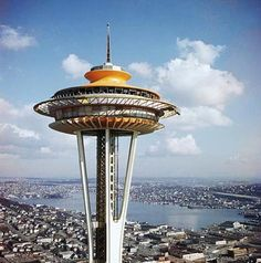 One of the icons of Googie is the Space Needle in Seattle, Washington. This was built for the 1962 World's Fair and was designed by Victor Steinbrueck. Raygun Gothic: Googie | A Steampunk Opera (The Dolls Of New Albion)