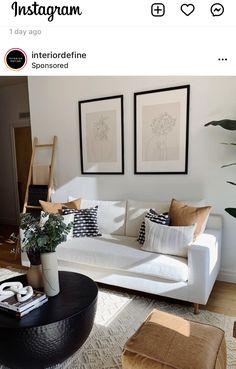 One Bedroom Apartment, Apartment Living, Living Room Inspiration, Home Decor Inspiration, Boho Living Room, Living Room Decor, Bedroom Decor, Custom Sofa, Apartment Interior Design