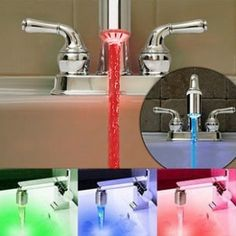 water-activated LED light (changes colors based on temperature)...My kiddo would love this xD