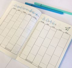 Calendex layout     10 Yearly spreads and future logs for your bullet journal!