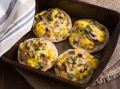 A recipe that I found at Taste of Home that I cant wait to try, will update once I have made it.  Here is what the author states:  Ive had this unique recipe for years. Its always a hit at our house because it combines eggs, bacon, cheese, vegetables and bread all in one pan. I enjoy cooking for my husband of 31 years, two sons, one daughter and two grandsons.  I will probably leave the mushrooms out due to other family members not liking them.