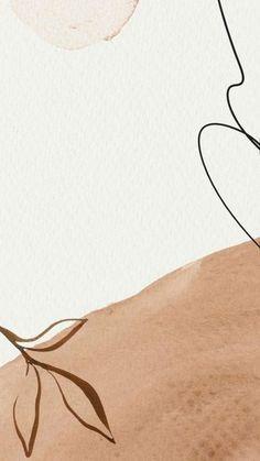 Beige Wallpaper, Iphone Background Wallpaper, Aesthetic Iphone Wallpaper, Aesthetic Wallpapers, Instagram Frame Template, Watercolor Wallpaper, Minimalist Wallpaper, Abstract Line Art, Cute Patterns Wallpaper