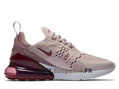 457e1d4971f5 Chaussures Nike Air Max 270 Flykni Gs Coussin d´air classique Femme Rose  clair blanc