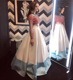 Fashion dress selection of designer dresses Indian Wedding Outfits, Bridal Outfits, Indian Outfits, Dress Outfits, Wedding Dress, Indian Lehenga, Red Lehenga, Lehenga Choli, Choli Designs