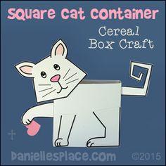 Square Cat Box Container Craft