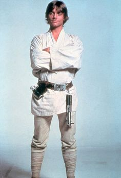 Luke Skywalker's clothes begin white (neutral colors) to show his innocence