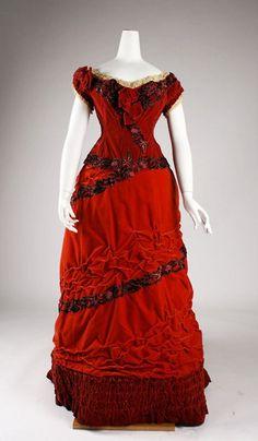 Ball gown ca. 1875 via The Costume Institute of The Metropolitan Museum of Art