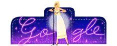 Geburtstag von Dalida - My site Google Doodles, Web Google, Google Art, Logo Google, Flower Drawing Images, Dalida, Singing Career, Birthday Dates, Barbie Party