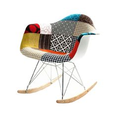 This modern beauty marries the iconic shape of the Modern Ash Wood Rocker with a brilliant patchwork design. Now you don't have to choose between mid-century modern and bohemian styles. We like this st...  Find the Patchwork Modern Ash Wood Rocker, as seen in the Accent Chairs Collection at http://dotandbo.com/category/furniture/chairs/accent-chairs?utm_source=pinterest&utm_medium=organic&db_sku=FMI0083
