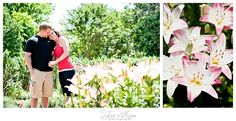 engagement session at a flower garden #garden  #engagementsession #tanglewoodpark