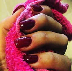 Nails red dark long style art