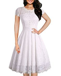 ea5638917859 online shopping for IHOT Women's Vintage Floral Lace Cap Sleeve Retro Swing  Elegant Bridesmaid Dress from top store. See new offer for IHOT Women's  Vintage ...