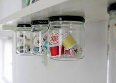 Under shelf storage. How neat is this?!