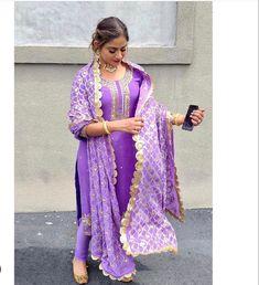 Designer Punjabi Suits, Indian Designer Wear, Kurti Sleeves Design, Pretty Prom Dresses, Punjabi Dress, Desi Wear, Indian Fashion, Designer Dresses, Nimrat Khaira