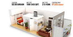 Lotus Greens, 2/3/4 BHK Flat in Gurgaon Sector 89,  Call now @ 9717070707