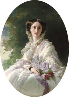 1850's. Winterhalter. Gran Duquesa Olga Nikolaievna