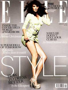 Helena Christensen - January 2010 Elle UK cover