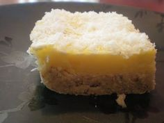 Primal Lemon bars.  I've been thinking about going primal, but at the very least if I can incorporate some recipes in that are better for me and taste good, why not?