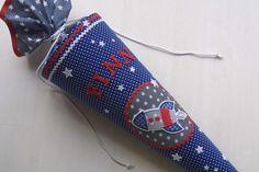 Schultüte mit Rakete + Sternen von Das Werk der Feen auf DaWanda.com