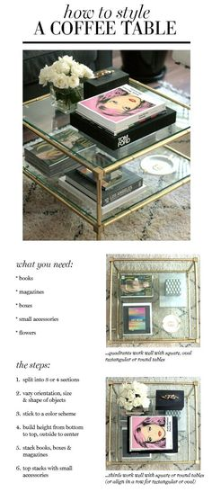 small shop: how to style a coffee table: