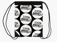 'Crazy Car Art Drawstring Bag by ozizo Car Illustration, Weird Cars, Kustom Kulture, Canvas Prints, Art Prints, Cotton Tote Bags, Drawings, Artwork, Draw