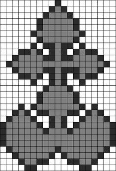 Kingdom Hearts Nobodies Perler Perler Bead Pattern / Bead Sprite