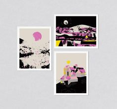 Set of three prints art set set of 3 wall art prints set