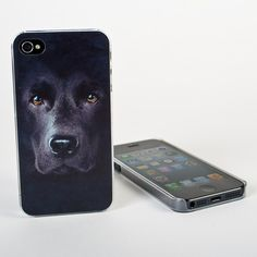 Big Face Black Lab Case for iPhone from Firebox.com