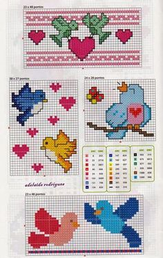 This Pin was discovered by glo Cross Stitch For Kids, Cross Stitch Tree, Cross Stitch Cards, Cross Stitch Borders, Cross Stitch Baby, Cross Stitch Flowers, Cross Stitch Designs, Cross Stitching, Cross Stitch Patterns