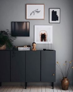 Ikea Hack: Was tun mit Ivar Holzkisten? Frenchy Phantasie - Ikea hack : que faire avec les caissons en bois Ivar ? Frenchy Fancy Ikea Hack: Was tun mit Ivar Holzkisten? Ikea Living Room, Interior Design Living Room, Interior Design Ikea, Living Room Hacks, Dining Room, Ivar Regal, Ikea Ivar Cabinet, Ikea Sideboard Hack, Scandinavian Christmas Decorations