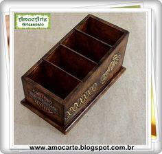 Peça organizadora - Porta controle remoto Harley Davidson madeira http://amocarte.blogspot.com.br/