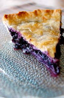 Saying Grace: Blueberry Pie Topping: 1/2 c sugar, 1/2 c flour, 1/4 c butter softened.  Mix together and sprinkle over the top.