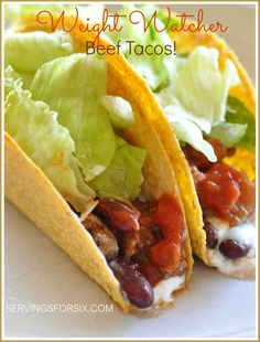 Weight Watcher Beef Tacos #tacos #dinner #weightwatchers
