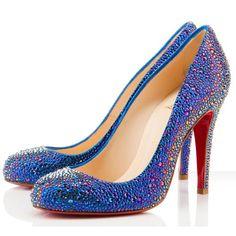 Christian Louboutin Evening Samira Strass 100mm Evening Blue #love #shoes #women