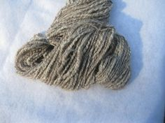 Hand Spun Brown/White 2 Ply Blue Faced by SingingRabbitDesigns, $36.00