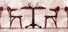 New York Cafe Arm Chair Installation Drawing Detail Armchair, Arms, Art Deco, New York, Steel, Classic, Drawing, Detail, House