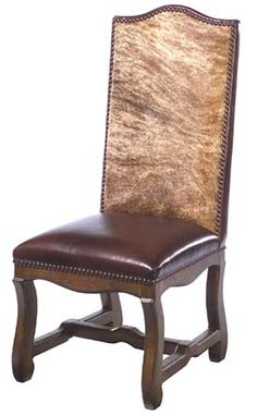 Beau Colt Western Chair Western Dining Chairs   Cowhide Chair Back And Leather  Seat. No Two