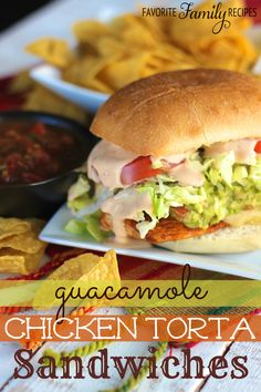 These Guacamole Chicken Torta Sandwiches are my kind of Mexican food! I loved that this sandwich was a unique twist on all the yummy Mexican food flavors! The chicken is so juicy and the guac is incredibly tasty!