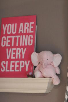 Mommy is very sleep too. #nurserydecor