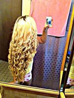 Long Blonde Curls may I please have your hair??